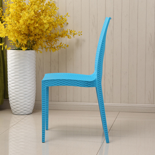 Rattan Stackable Dining Armless Chair Image 11