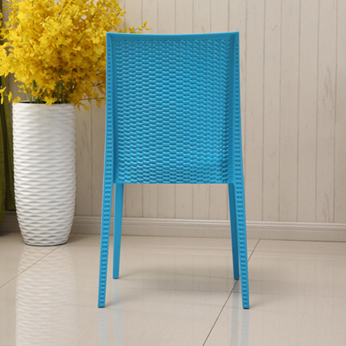 Rattan Stackable Dining Armless Chair Image 12