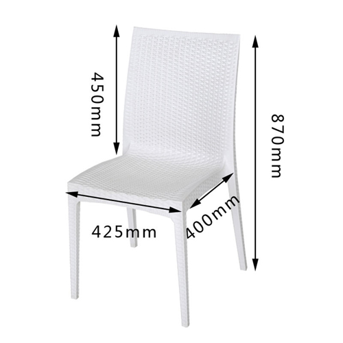 Rattan Stackable Dining Armless Chair Image 18
