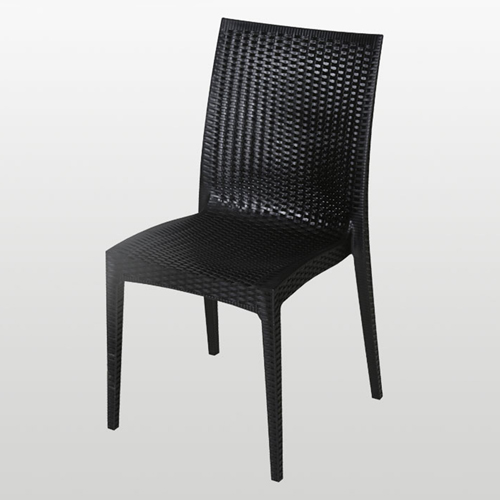 Rattan Stackable Dining Armless Chair Image 1