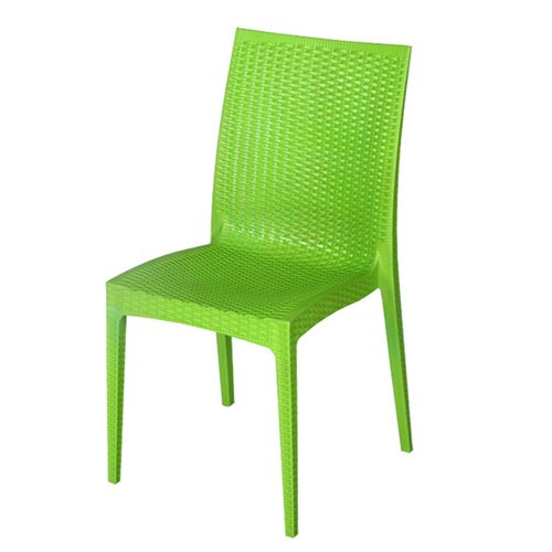 Rattan Stackable Dining Armless Chair Image 3
