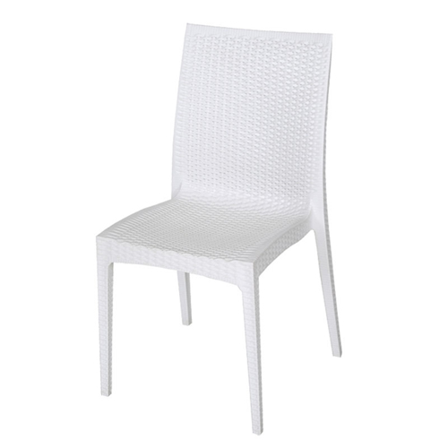Rattan Stackable Dining Armless Chair Image 4
