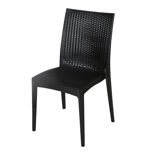 Rattan Stackable Dining Armless Chair Image 5