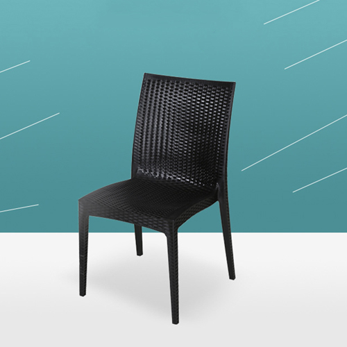 Rattan Stackable Dining Armless Chair Image 7