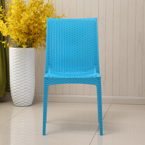 Rattan Stackable Dining Armless Chair Image 8