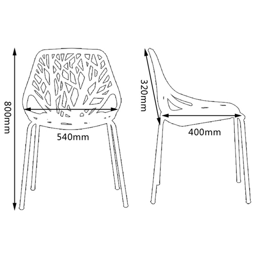 Birds Nest Stackable Dining Chair Image 19