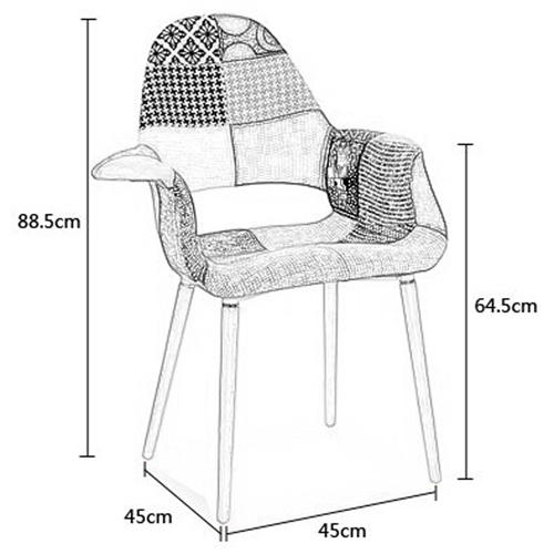 Replica Patchwork Armchair Image 17