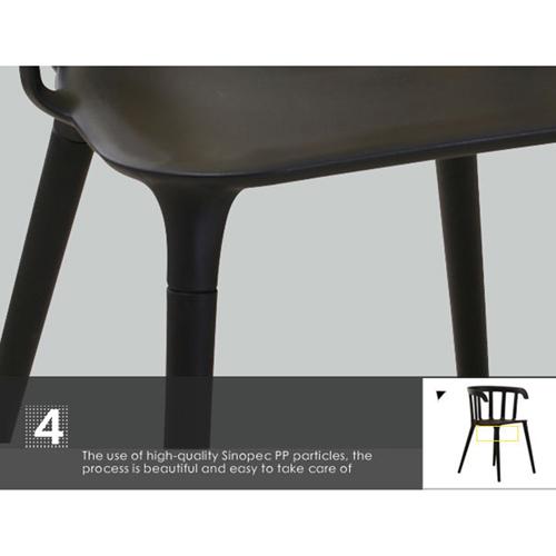 Windsor Plastic Armrest Chair Image 16