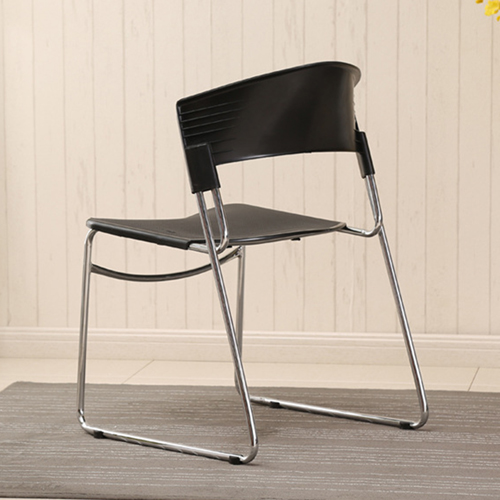 Slimline Stackable Chrome Sled Base Chair Image 10