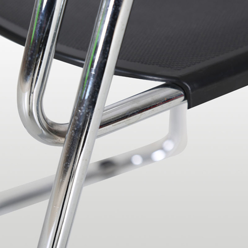 Slimline Stackable Chrome Sled Base Chair Image 12