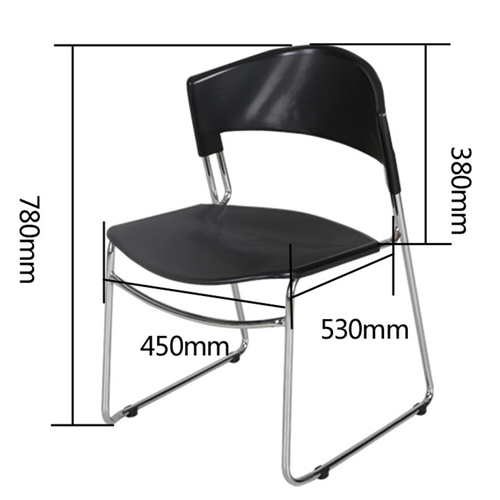 Slimline Stackable Chrome Sled Base Chair Image 17