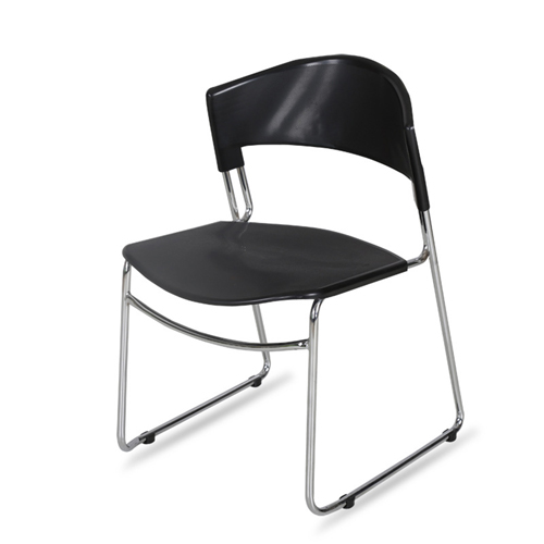 Slimline Stackable Chrome Sled Base Chair Image 1