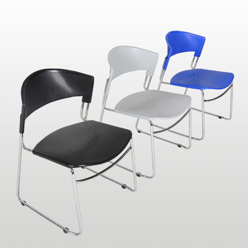 Slimline Stackable Chrome Sled Base Chair Image 2