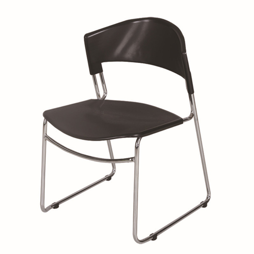 Slimline Stackable Chrome Sled Base Chair