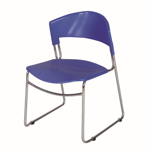 Slimline Stackable Chrome Sled Base Chair Image 4