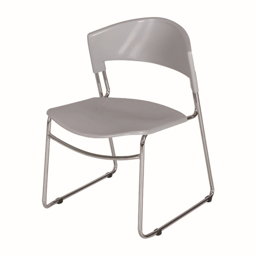 Slimline Stackable Chrome Sled Base Chair Image 5