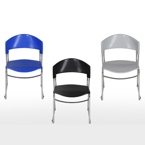 Slimline Stackable Chrome Sled Base Chair Image 6