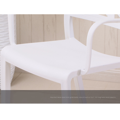 Webbed Plastic Dining Chairs with Armrest Image 14