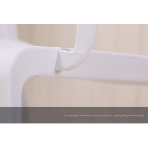 Webbed Plastic Dining Chairs with Armrest Image 15