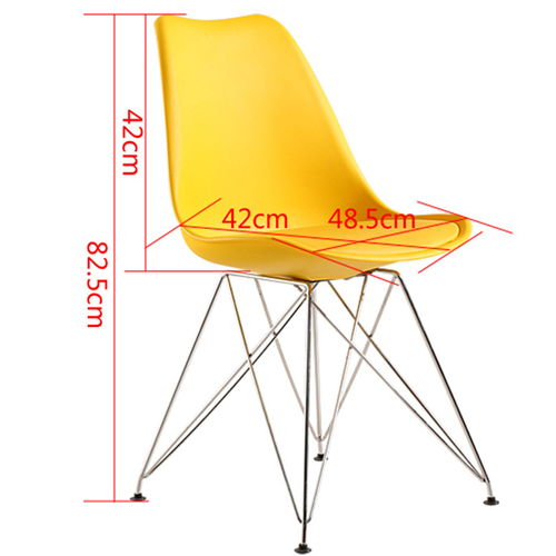 Signal DSR Cushioned Plastic Chair Image 21
