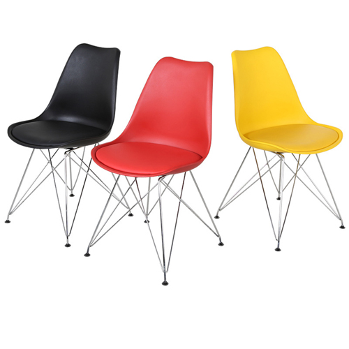 Signal DSR Cushioned Plastic Chair Image 1