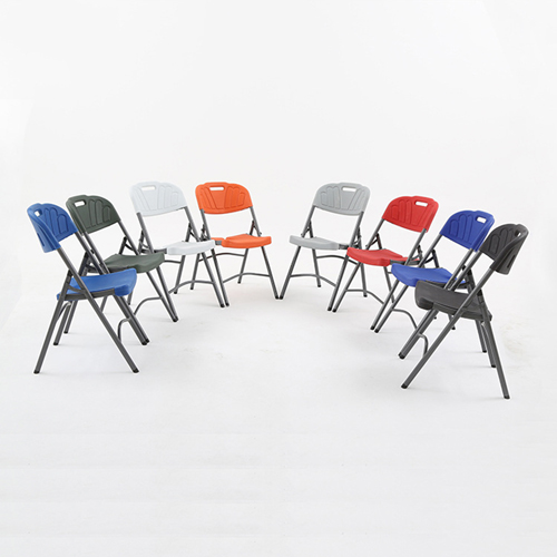 Metal Frame Plastic Folding Chair Image 12