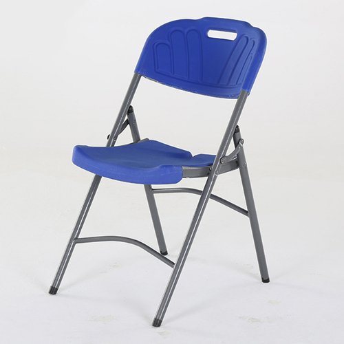 Metal Frame Plastic Folding Chair Image 1
