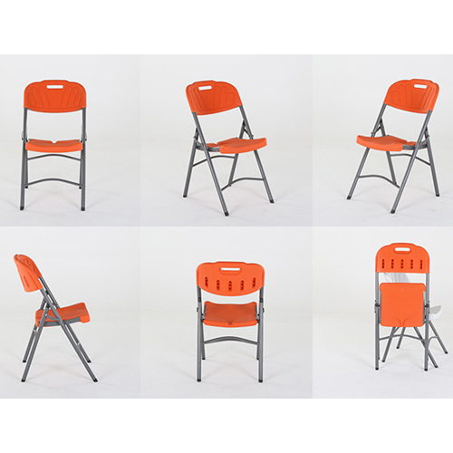 Metal Frame Plastic Folding Chair Image 19