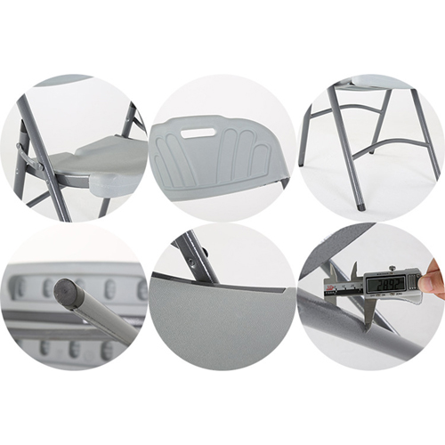 Metal Frame Plastic Folding Chair Image 23