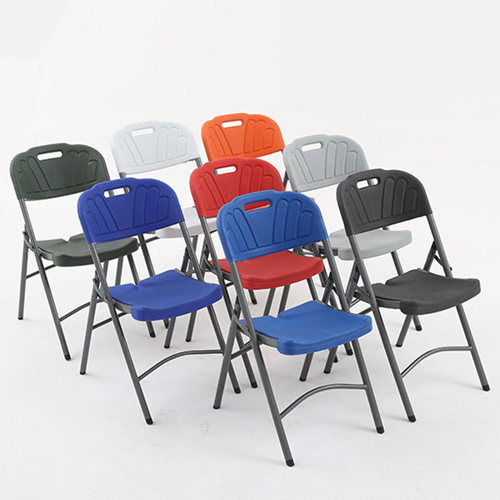 Metal Frame Plastic Folding Chair Image 3
