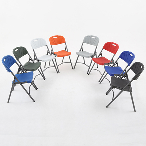 Metal Frame Plastic Folding Chair Image 4