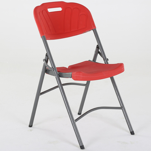 Metal Frame Plastic Folding Chair Image 5