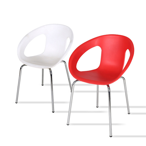 Oval Steel Base Side Chair