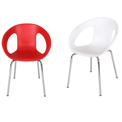 Oval Steel Base Side Chair Image 3