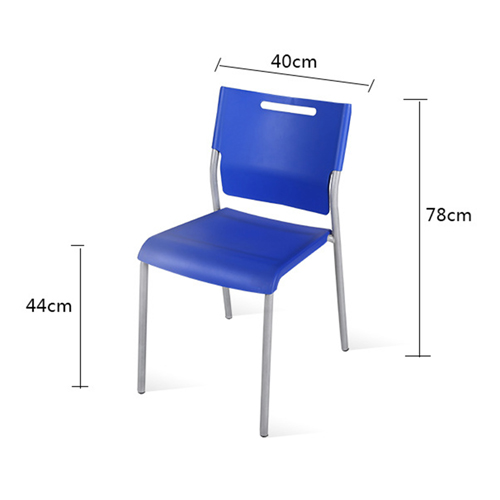 Silver Frame Stackable Plastic Chair Image 10