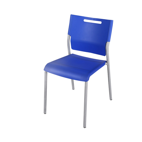 Silver Frame Stackable Plastic Chair