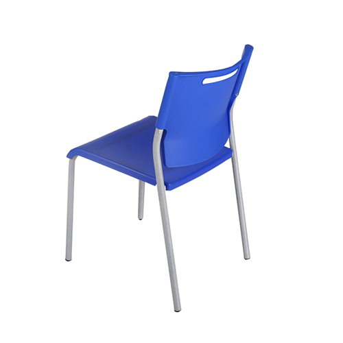 Silver Frame Stackable Plastic Chair Image 1