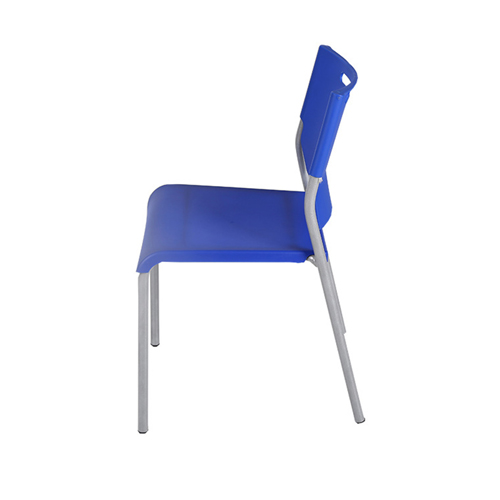 Silver Frame Stackable Plastic Chair Image 2