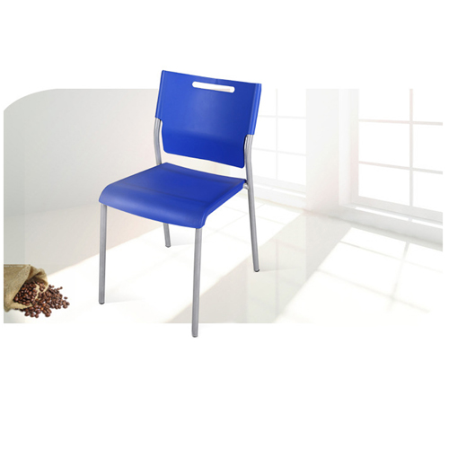 Silver Frame Stackable Plastic Chair Image 3