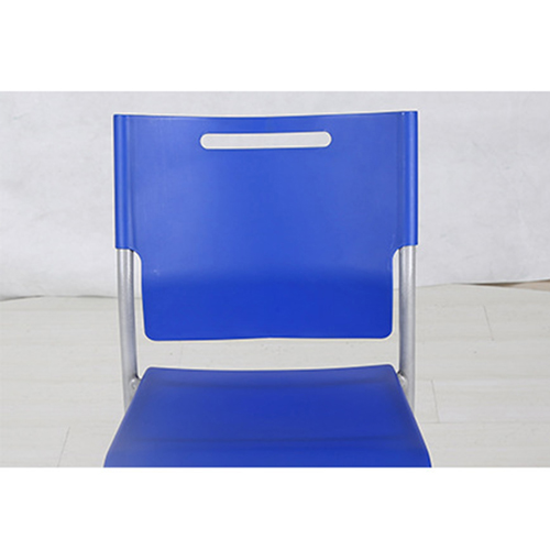 Silver Frame Stackable Plastic Chair Image 8