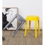 Slightly Curved Round Plastic Stool Image 14