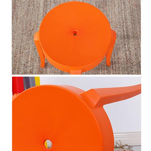 Slightly Curved Round Plastic Stool Image 16
