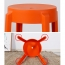 Slightly Curved Round Plastic Stool Image 17