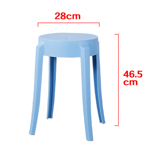 Slightly Curved Round Plastic Stool Image 19