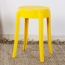 Slightly Curved Round Plastic Stool Image 2