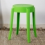 Slightly Curved Round Plastic Stool Image 5