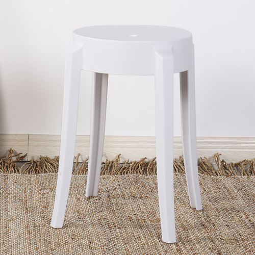Slightly Curved Round Plastic Stool Image 6