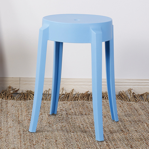 Slightly Curved Round Plastic Stool Image 8