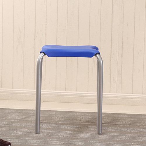 Metal Frame Plastic Stackable Stool Image 9