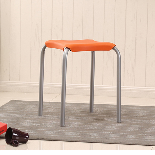 Metal Frame Plastic Stackable Stool Image 10